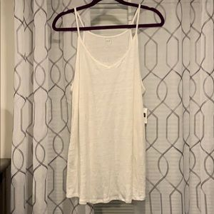 NWT gap linen tunic cream color size large